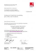 Einladung, Tagesordnung, Geschäftsordnung, Anfahrtsskizze und Delegiertenschlüssel zum Ordentlichen Kreis-Parteitag gem. § 8 Abs. 4 des Kreisstatutes