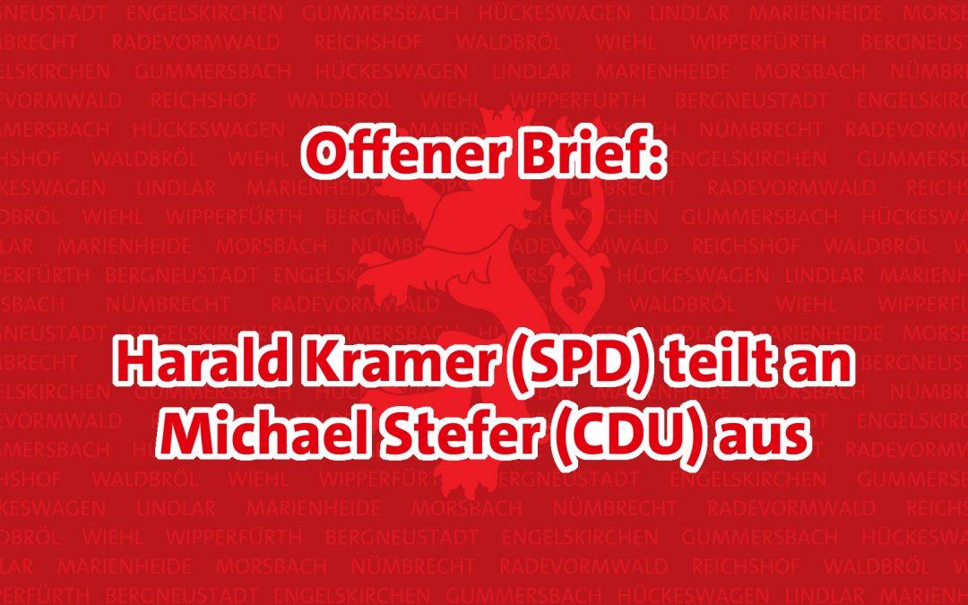"Offener Brief: ""Fehler müssen korrigiert werden"" – Harald Kramer (SPD) teilt an Michael Stefer (CDU) aus"