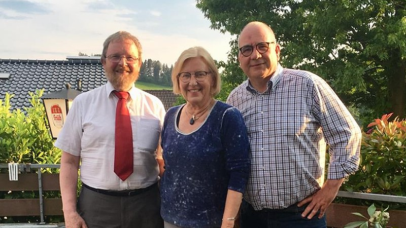 Neuer SGK-Vorstand: v.l. Christoph Hastenrath, Ursula Mahler und Frank Mederlet (Bild: © SPD Oberberg)