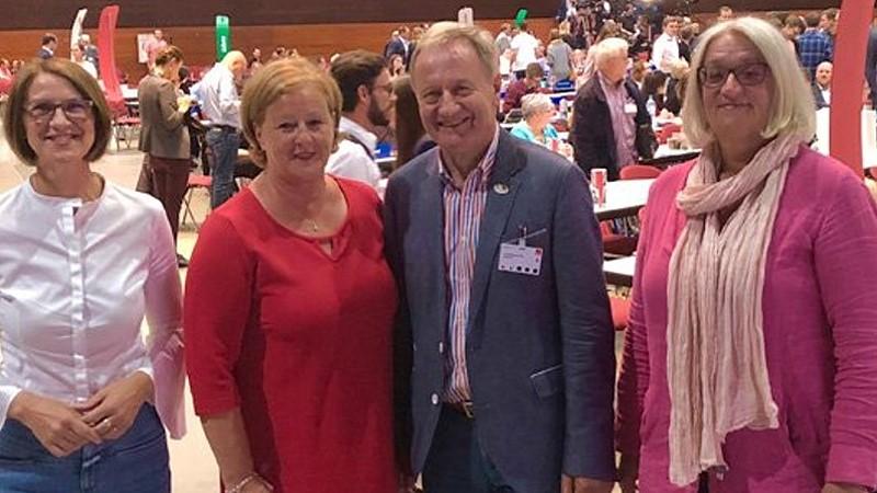 Die oberbergischen Teilnehmer (v.l.): Regina Billstein, Michaela Engelmeier, Friedhelm Julius Beucher, Anne Theuer (Bild: © SPD Oberberg)