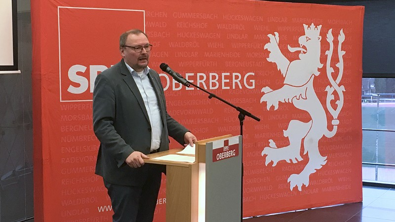 Thorsten Konzelmann - Alter und neuer Vorsitzender des oberbergischen SPD Kreisverbandes