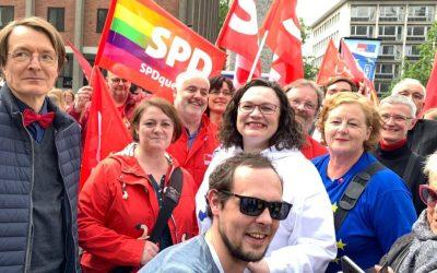 SPD Oberberg zeigt Flagge für Europa