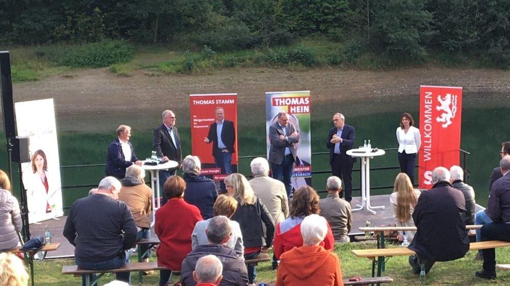 SPD Parteivorsitzender zum Wahlkampf-Finale in Oberberg