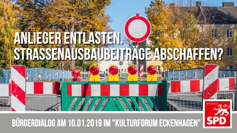 """Die SPD Reichshof lädt ein zum Bürgerdialog: """"Anwohner entlasten. Straßenausbaubeiträge abschaffen?"""""""