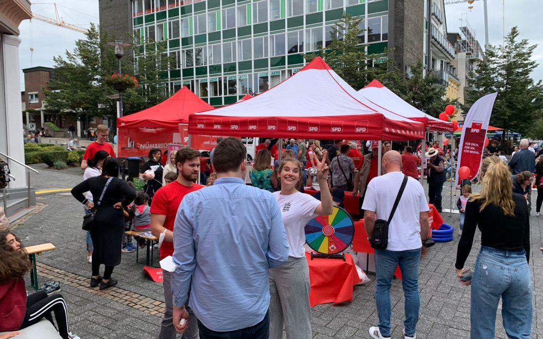 Bundestagswahlkampf: Gute Stimmung auf dem Gummersbacher Soli-Fest