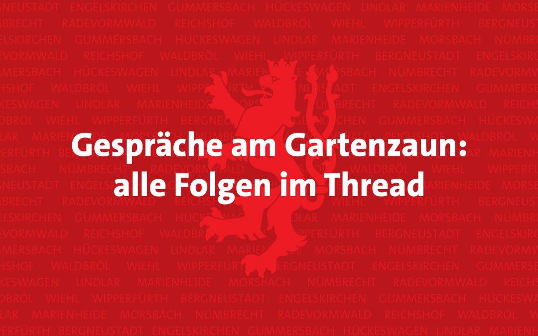 Gespräche am Gartenzaun: alle Folgen (aktualisierter Thread)