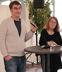 Gastredner Jürgen Wiebicke und Dawn Stiefelhagen