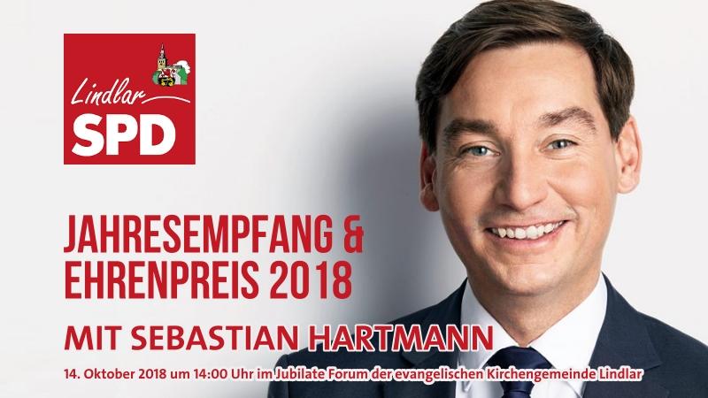 SPD Landesvorsitzender Sebastian Hartmann spricht in Lindlar