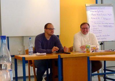 Kreisverbandsvorsitzender Thorsten Konzelmann (rechts) und Dr. Roland Adelmann (stellv. Vorsitzender) führen durch die Klausurtagung