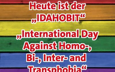 17. Mai: Der internationale Tag gegen Homo-, Bi-, Inter- und Transphobie